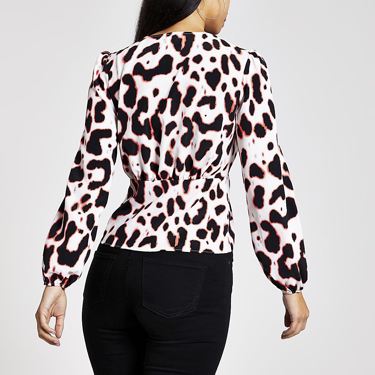 f80c333d2ccd Cream leopard print tea top - Blouses - Tops - women