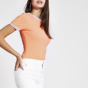 Neon orange tipped T-shirt