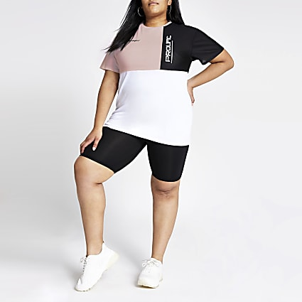 Plus white block Prolific jumbo T-shirt