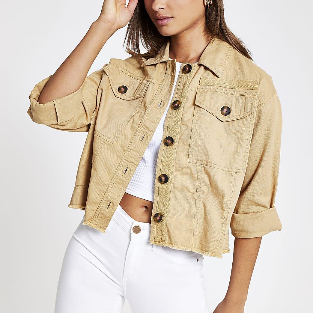 Brown army jacket
