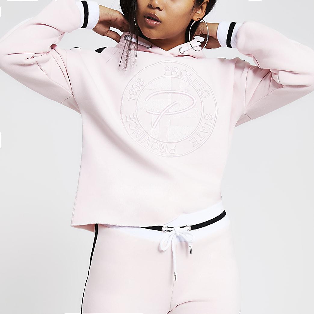 RI Petite - Prolific - Roze geborduurde hoodie
