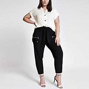 Plus – Chemise blanche à manches courtes