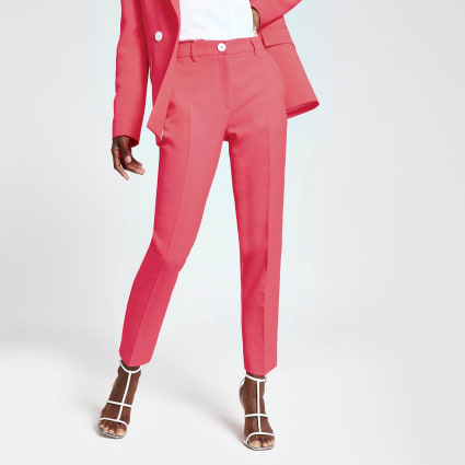 Neon pink cigarette trousers