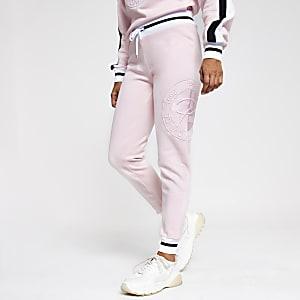 Petite – Pantalon de jogging rose à broderie Prolific