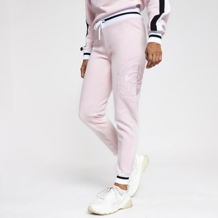 Petite pink Prolific embroidered joggers