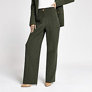 Pantalon ample style militaire kaki