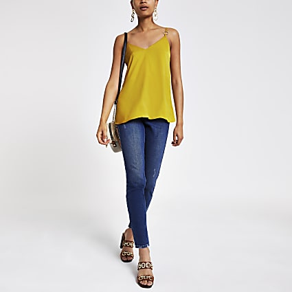 Yellow ring cami top