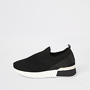 Zwarte sneakers met structuur