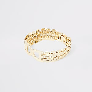 Gold colour D ring chain bracelet