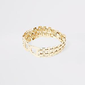 Bracelet chaîne doré à maillons en D