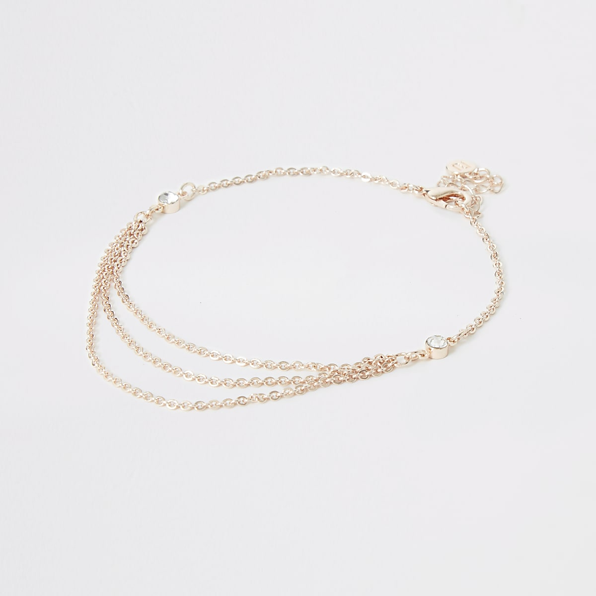 Rose gold colour layered anklet