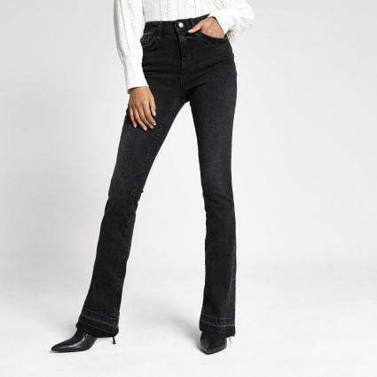 Black bootcut jeans