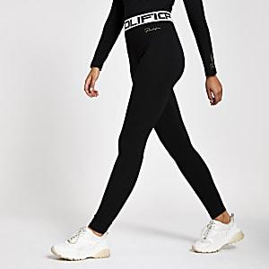 Zwarte legging met hoge taille en 'Prolific'-print