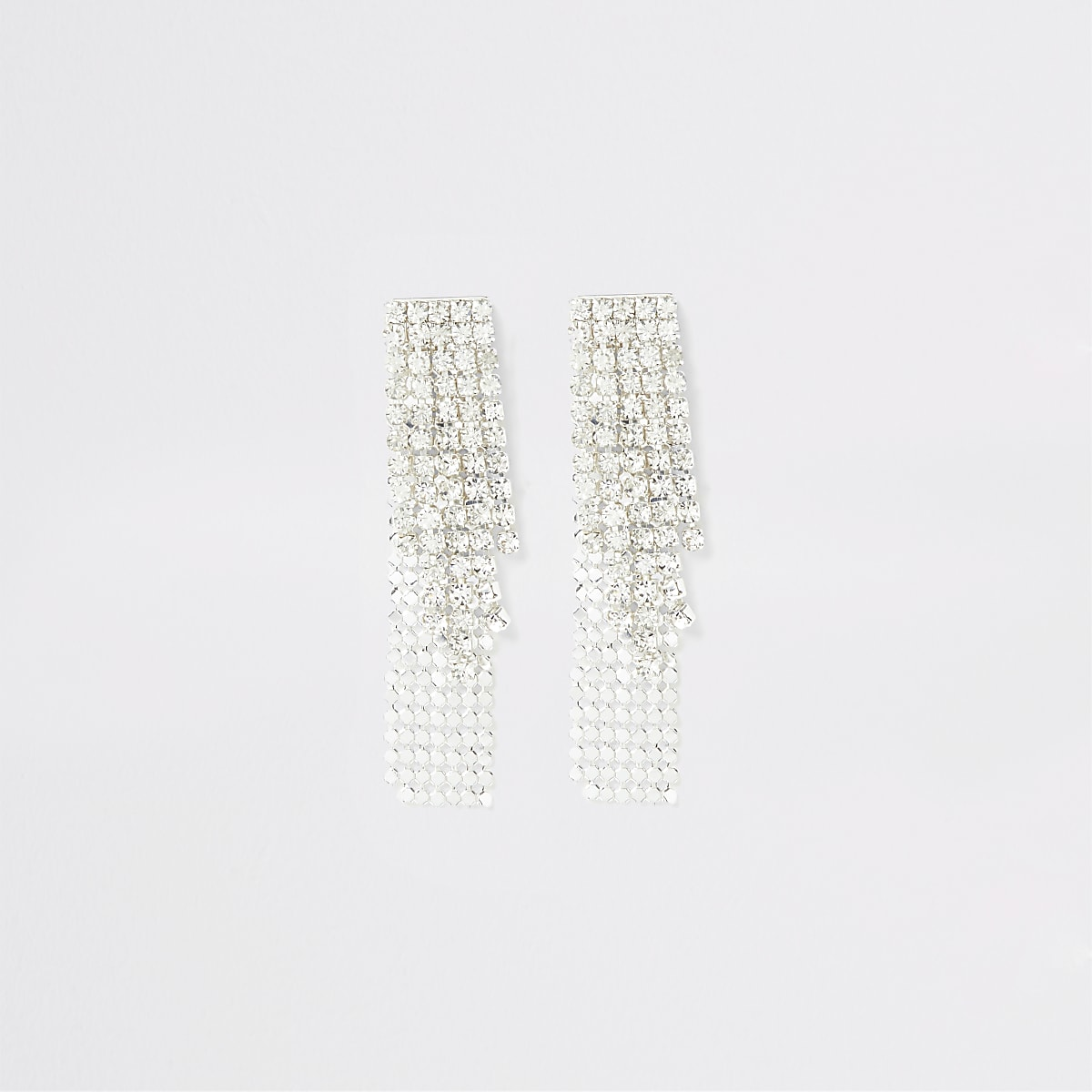 Silver color cupchain earrings