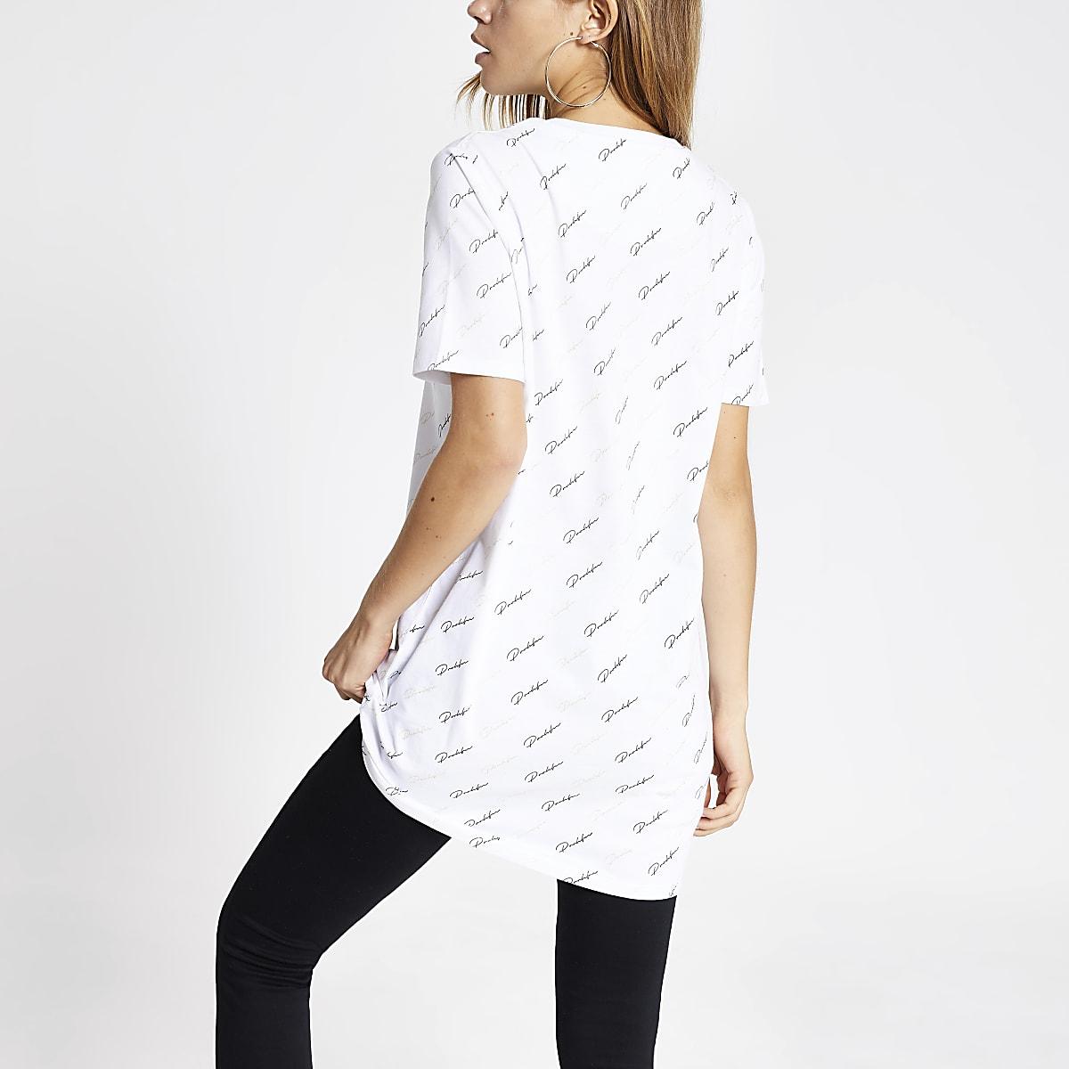 f9d3cc02 White 'Prolific' monogram print T-shirt - T-Shirts - Tops - women