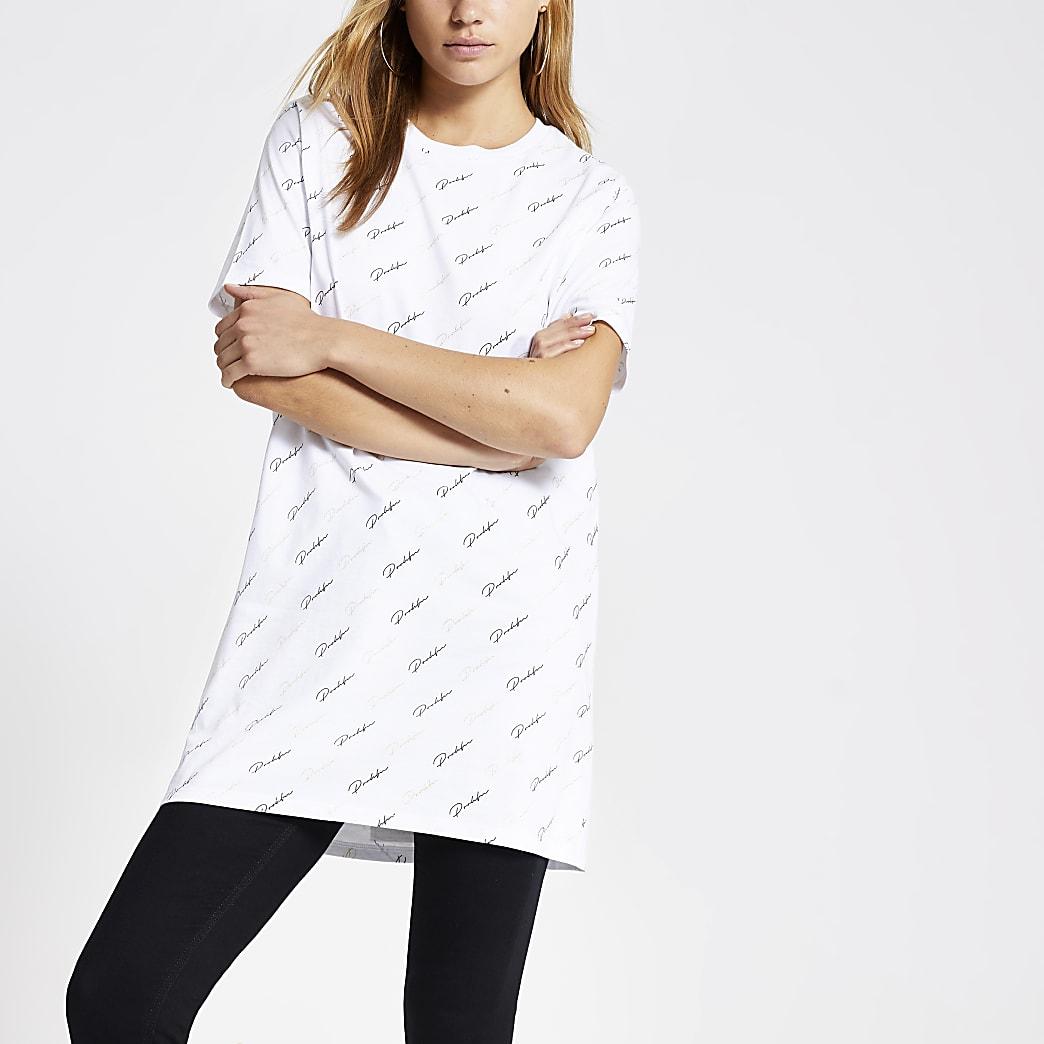 White Prolific monogram print T-shirt
