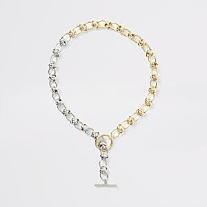 Halskette in SIlber und Gold