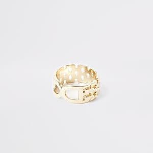 Gold color double D ring