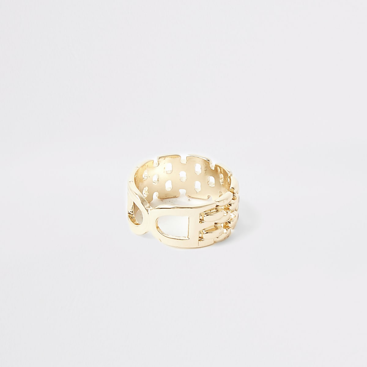 Gold colour double D ring