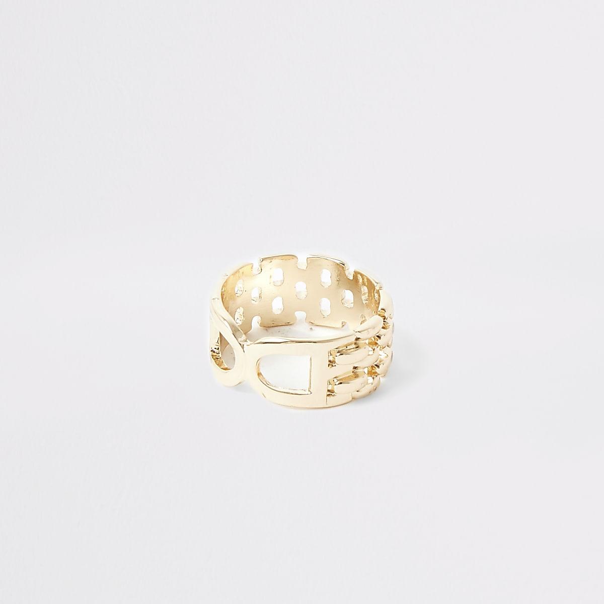 Goudkleurige dubbele D-ring