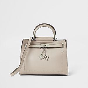 Lichtbeige kleine handtas