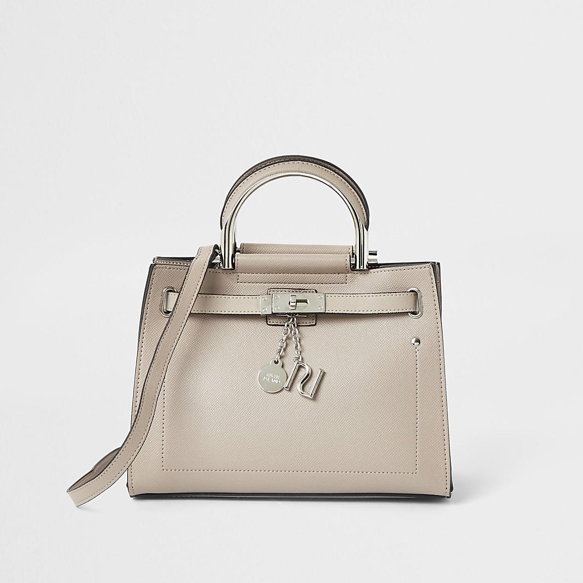 Light beige mini tote bag