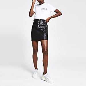 Wit aansluitend T-shirt met 'Paris 88 couture'-print
