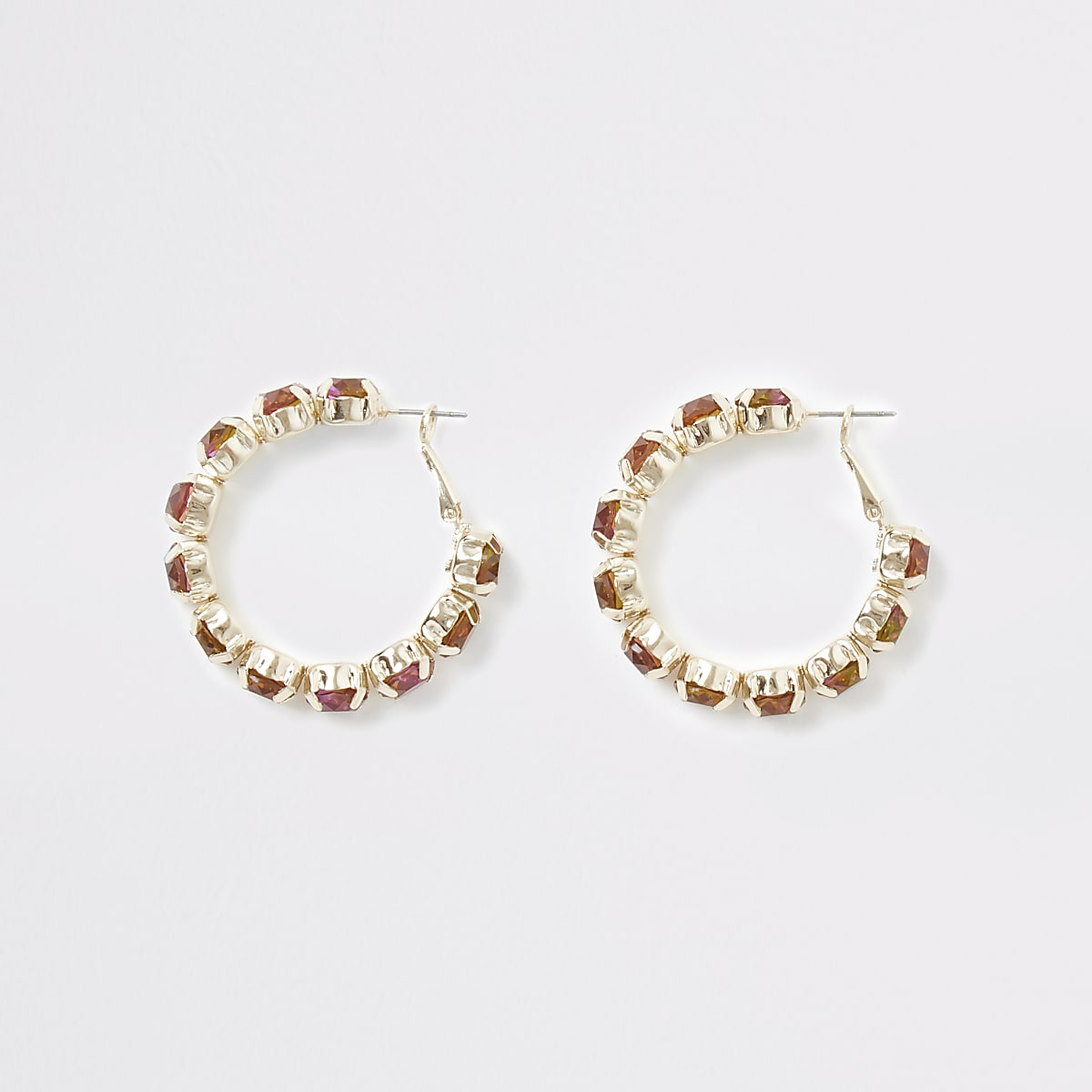 Gold colour ombre hoop earrings