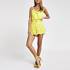 Yellow frill shorts