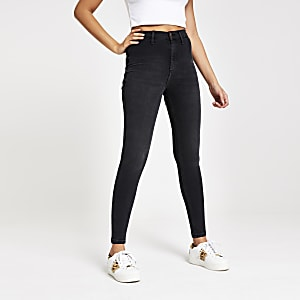 Black wash Kaia high rise disco jeans