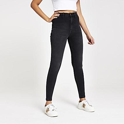 Black wash Kaia high rise disco jeans