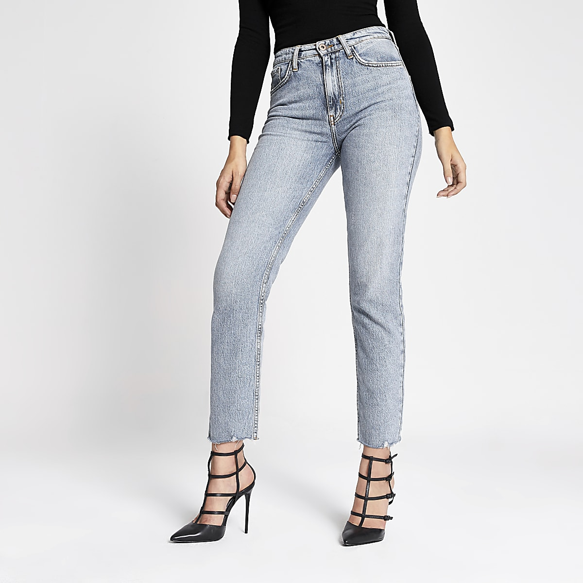 The Norma Light Blue Straight Jeans
