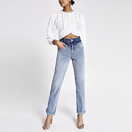 Mid blue Mom denim jeans