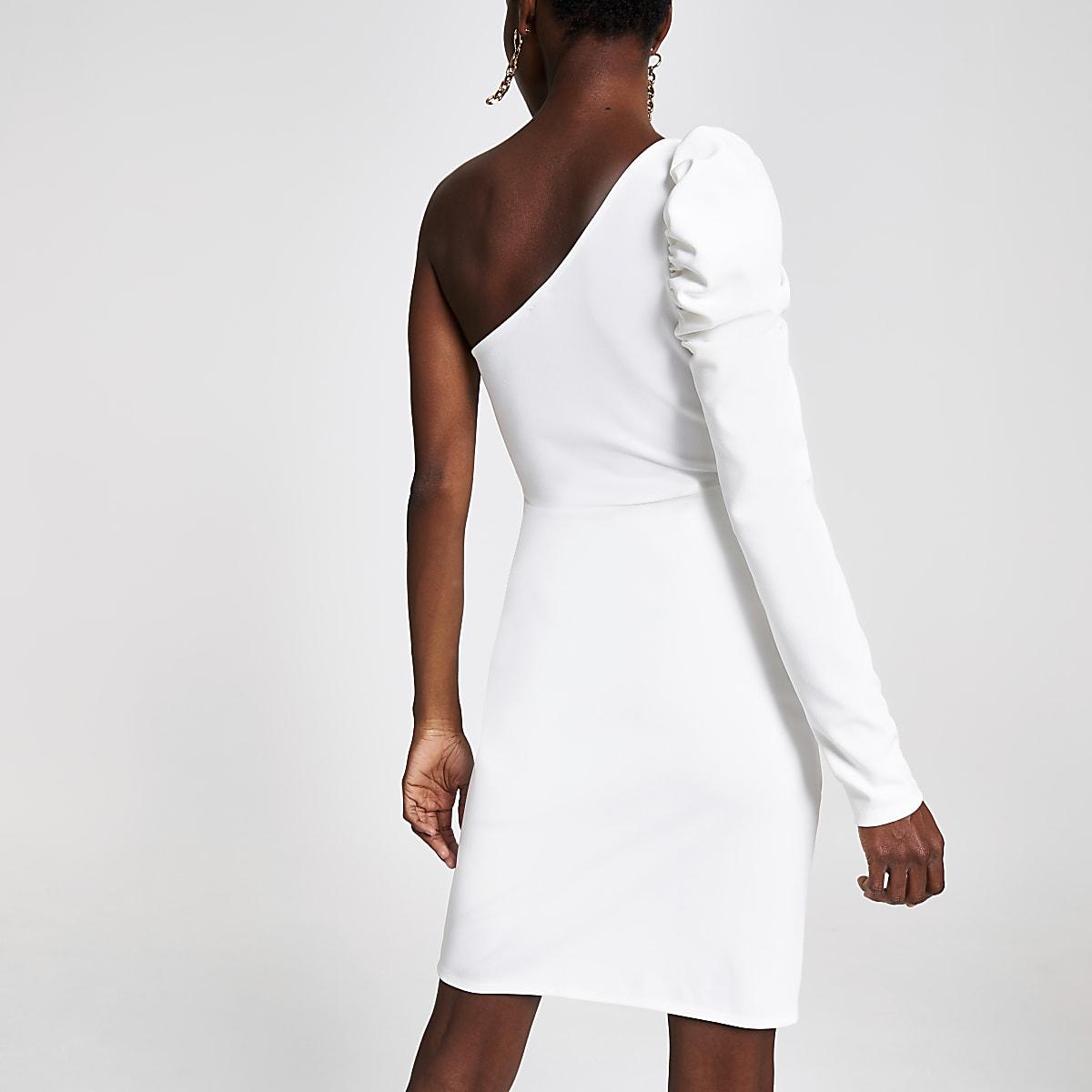 e218dccbd White one shoulder bodycon dress - Bodycon Dresses - Dresses - women