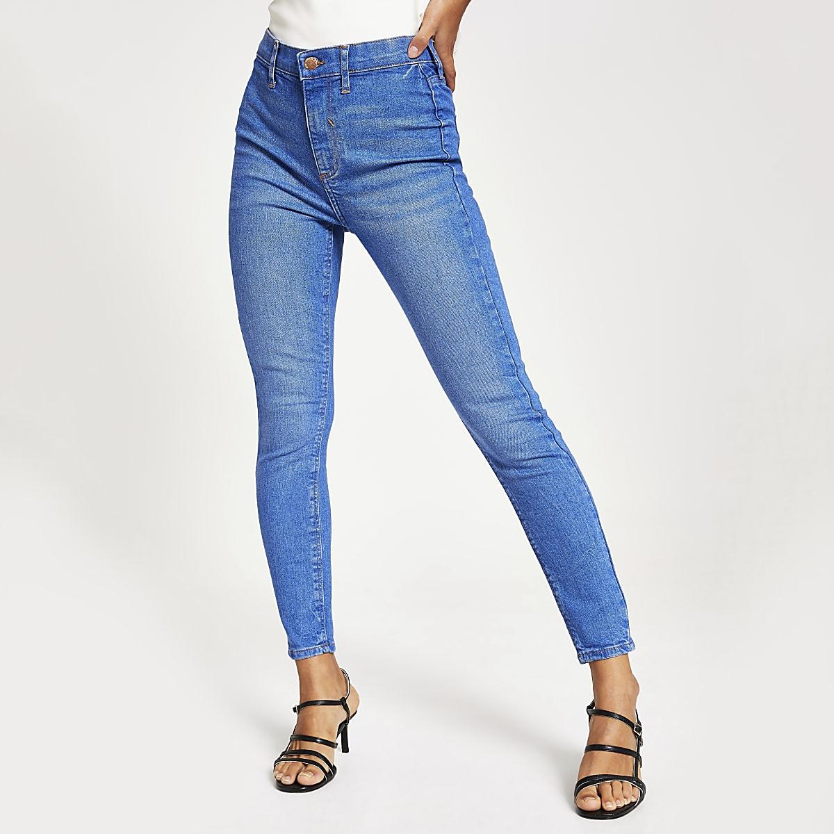 Petite – Kaia – Jean disco taille haute bleu