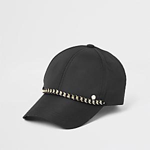 Casquette de baseball noire à chaîne