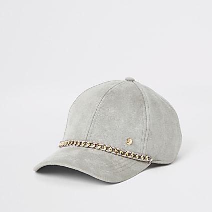 Grey chain baseball cap