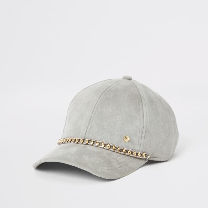 Grey chain baseball cap
