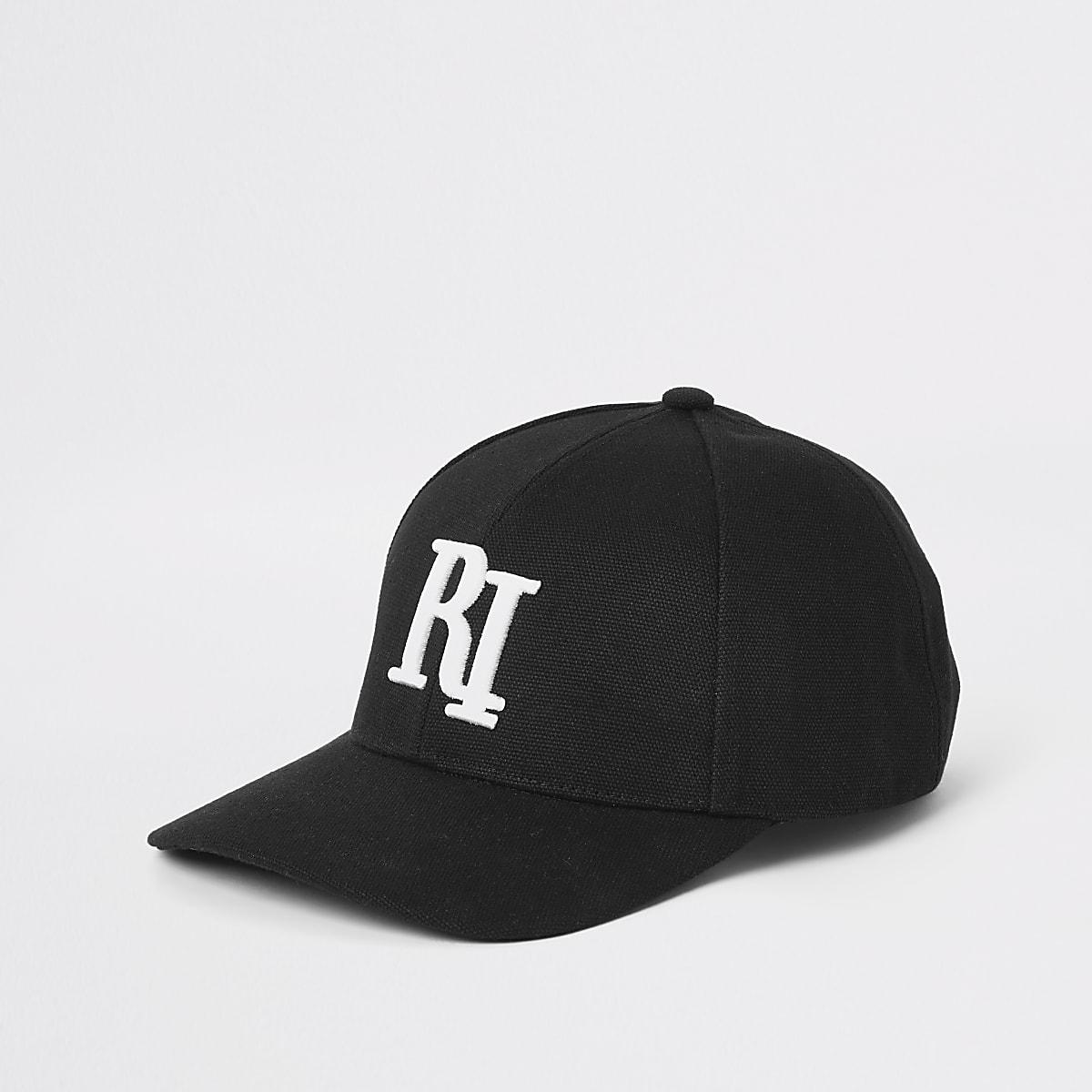 Zwarte baseballpet met RI-logo