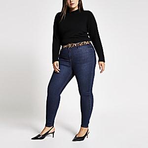 RI Plus - Molly - Donkerblauwe denim jeans