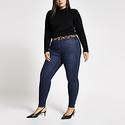 Plus dark blue Molly denim jeans