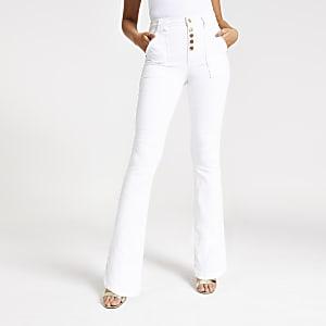 White bootcut jeans
