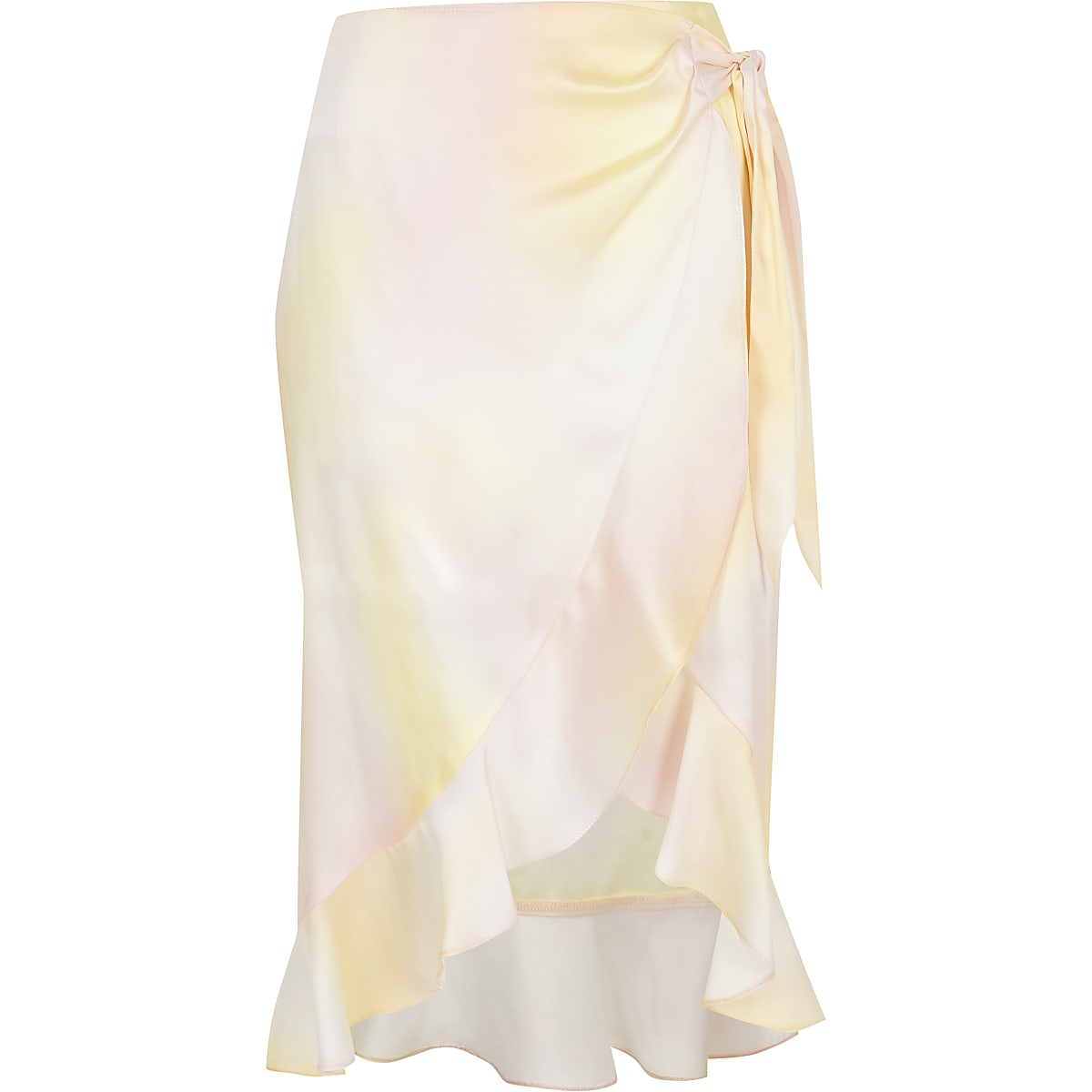 select for latest shop for official compare price Yellow print wrap midi skirt