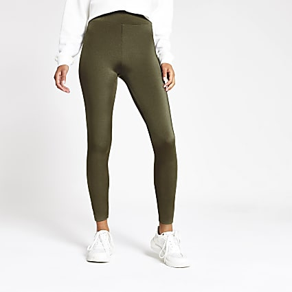 Khaki high waisted disco legging