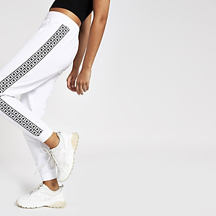 White diamante RI joggers