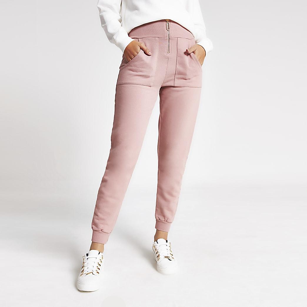 Pink zip through jogger