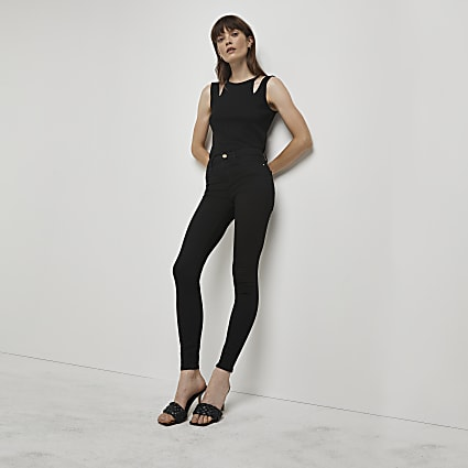 Black mid rise Molly jeggings