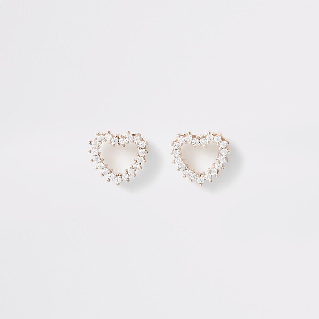 Boucles d'oreilles cœur or rose