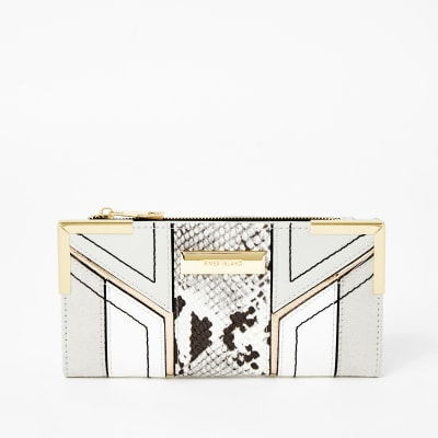 Grey Snake Print Cutabout Fold Out Purse by River Island