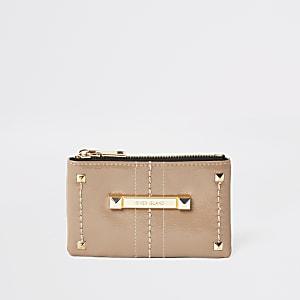 RI Mini - Beige portemonnee met studsen rits